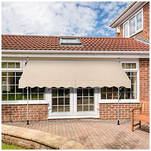 "Garden and Outdoor AECOJOY 118""×47""Manual Retractable Awning Patio Awning Sun Shade Awning Cover Outdoor Patio Canopy Sunsetter Deck… patio awnings"