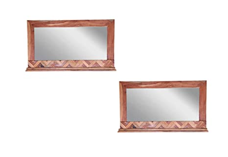 Amazon.com - Dsigne Gallerie Andover Set of 2 Mirror Frame ...
