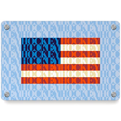 American Flag Mosaic | Hockey Metal Wall Art Panel by ChalkTalkSPORTS | Multiple Colors