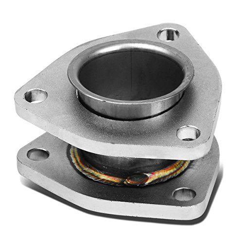 - 2 inches Inlet/Outlet Stainess Steel Exhaust 3-Bolt Flange Extension Adapter