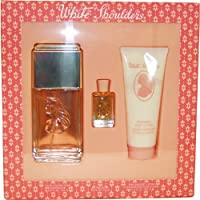 White Shoulders by Evyan | Classic Floral Fragrance for Women with Amber, Musk, and Oak Moss | 3-Piece Gift Set Includes...