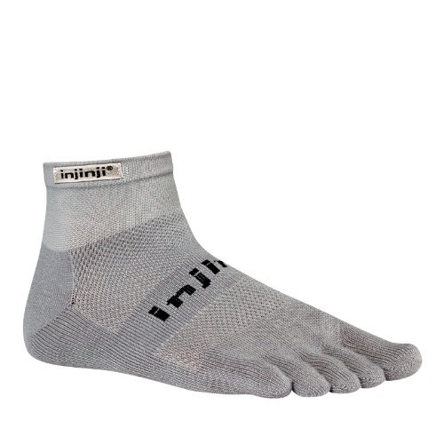Injinji Men's Run Original Weight Mini Crew Toesocks by Injinji