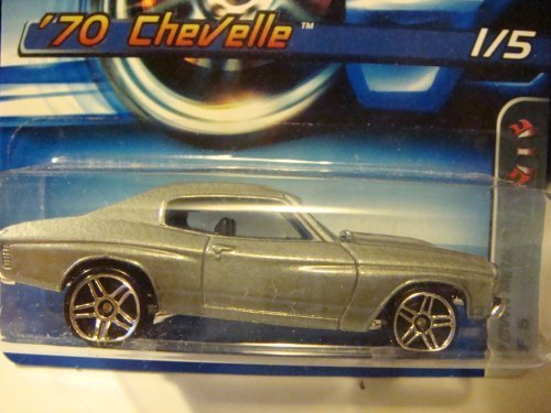 Hot Wheels motown metal series '70 chevelle silver, pr5 wheels 2006 #86 collector 1:64 Scale