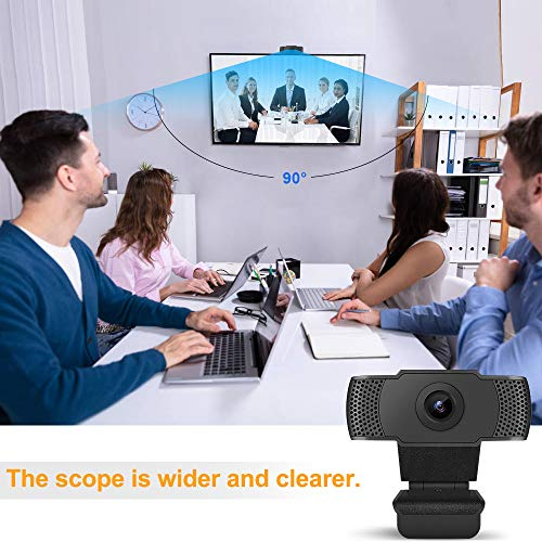 Allo 1080P HD Webcam with Microphone, Full HD Live Webcam Streaming Video Camera for Computers PC Laptop Desktop, Dual Built-in Microphones, Video Calling, Conference, Online Study