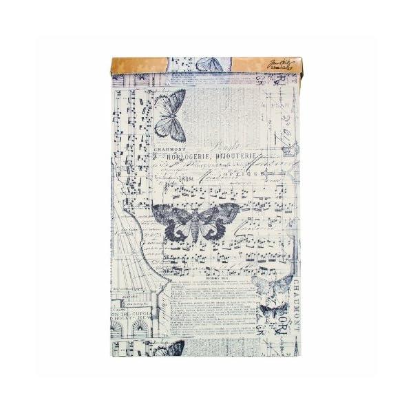 Tim Holtz Idea-ology Melange Tissue Wrap, Decorative Craft Paper, 1- 12 Inch Wide Roll, 15 Feet per Roll, TH93042 3