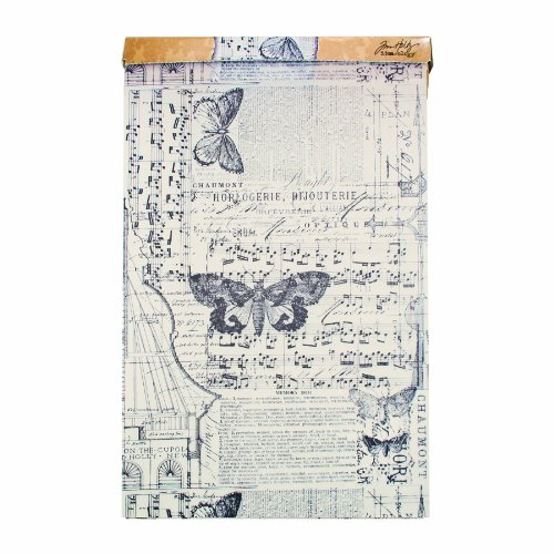Tim Holtz Idea-ology Melange Tissue Wrap, Decorative Craft Paper, 1- 12 Inch Wide Roll, 15 Feet per Roll, TH93042