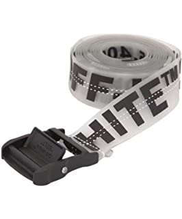 083366ca OW transparent three-dimensional letter metal rubber stitching belt new  style logo men women