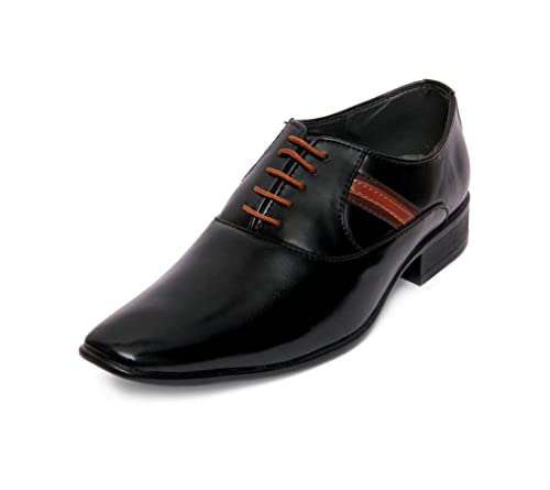 9417453dc35029 Atellier Shoes Stylish Look New Latest Fashionable Male Black Derby Formal  Shoe Black Color 10