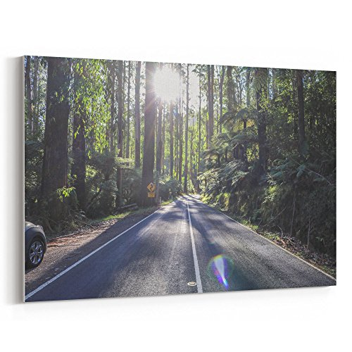 Westlake Art - Road Roadside - 32x48 Canvas Print Wall Art - Canvas Stretched Gallery Wrap Modern Picture Photography Artwork - Ready to Hang 32x48 Inch
