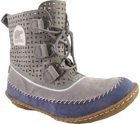 Sorel Women's Joplin Perfed Leather Boot,Light Grey,7.5 M US