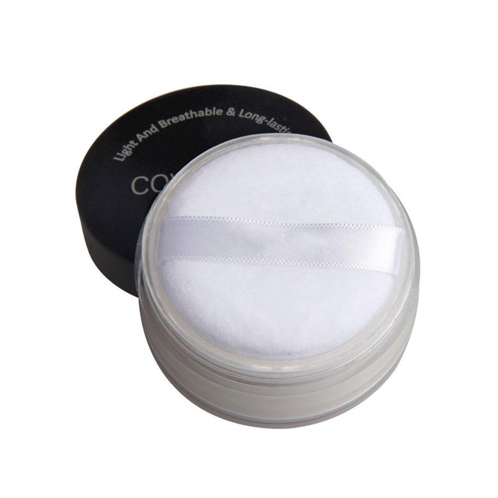 Prettyuk Poudre libre 3 Couleur- La Meilleure Poudre Fixante de Fond deTeint avec une Poudre Visage de Qualité Supérieur pour un Éclat Radieux (blanc de peau)