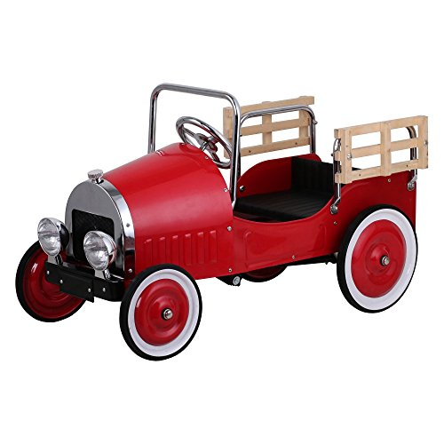 Dexton Kids Retro Pickup Truck Pedal Riding Toy - (Pick Up Truck For Kids)