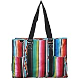 N. Gil All Purpose Organizer 18'' Large Utility Tote Bag 3 -2017 Spring New Pattern (Serape Black)