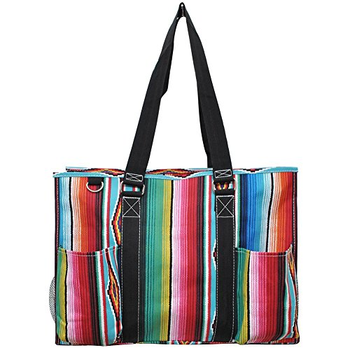 N. Gil All Purpose Organizer 18'' Large Utility Tote Bag 3 -2017 Spring New Pattern (Serape Black) by N.Gil