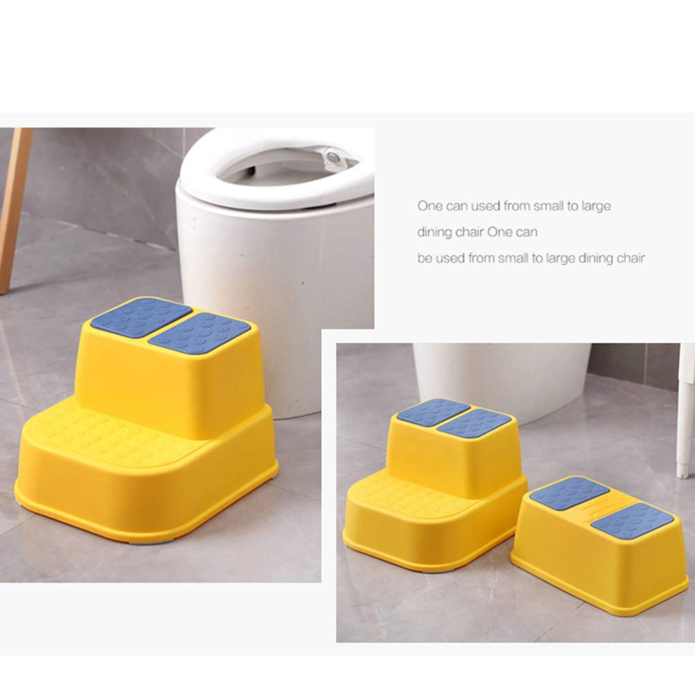 TOYANDONA 1pc Multi-Function Step Stool Anti-Slip Thicken Footstool Double Layers Stool for Kids Children Red
