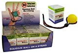 StringyBall Stress Ball on a String - For Stress Relief, Hand Exercise, Strengthening, Rehabilitation - Soft, Medium and Firm Balls - No Falling or Rolling Away (12 Single Soft Balls)