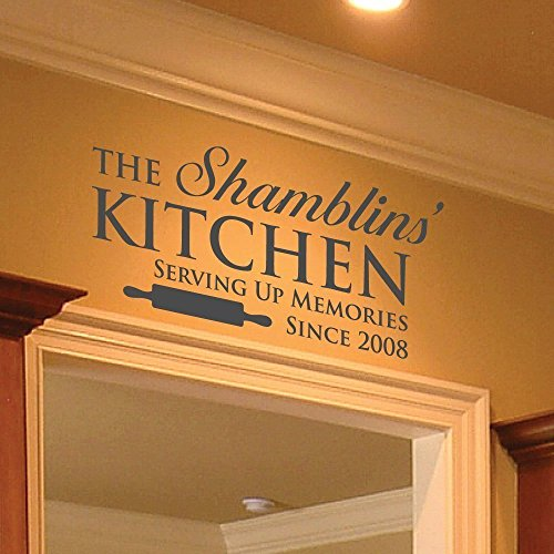 Family Name Decal 0005 Family Name Sign Wall Decor