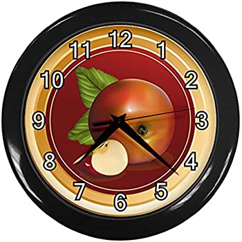 Amazon Com Vintage Apple Wall Clock Available In 8 Sizes