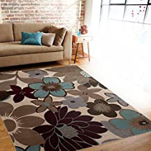 """Rugshop Floral Woven Area Rug 5'3"""" x 7'3"""" Multi"""