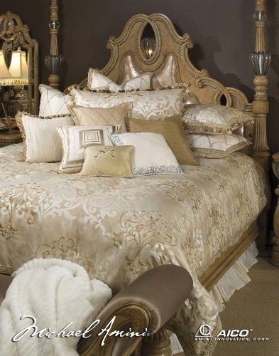 Price comparison product image Michael Amini Luxembourg 13 Piece Comforter, King, Creme