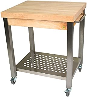 """product image for John Boos 30"""" x 24"""" x 2-1/4"""" Hard Maple Top With Cart"""