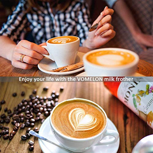 Milk Frother Handheld, Travel Coffee Frother Milk Streamer Foam Maker Drink Mixer with 2 Stainless Steel Whisks for Hot Chocolate, Batteries Included, Silver