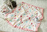 J-pinno Baby Colorful Clouds Nursery Muslin Cotton Bed Quilt Blanket Crib Coverlet 43.5