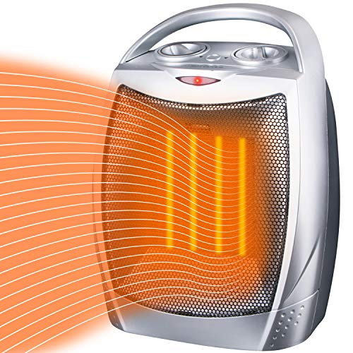 Price comparison product image Brightown Space Heater Electric Heater Portable Ceramic Heater with Adjustable Thermostat and Overheat Protection ETL Listed for Home Office Kitchen Bedroom and Dorm,  750 / 1500 Watt