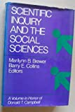 Scientific Inquiry and the Social Sciences, Brewer, Marilynn B., 0875894968