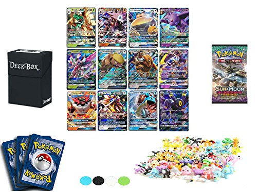 Pokemon GX or EX Card Guaranteed with Sun and Moon Guardians Rising Booster Pack, 5 Holo/Reverse Holo Cards, 5 Rare Cards, 20 Uncommon/Common, Deck