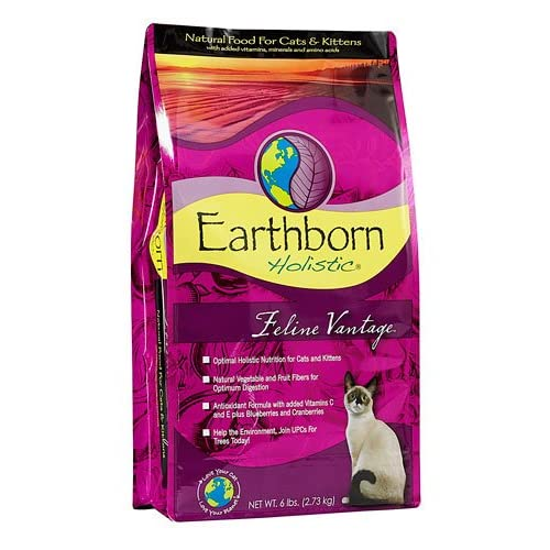 new Earthborn Holistic Feline Vantage Natural Dry Cat & Kitten Food -- 6 lbs