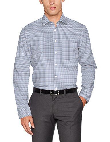 Seidensticker Modern Bügelfrei, Camicia Formale Uomo, Blu (Blau 17), 40
