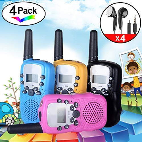 4Pack Kids Rechargeable Walkie Talkie Girls Boys Long Range Two Way Radio 22 Channel LED Flashlight Marine Cruise FRS Camping Accessories Toys Hiking Family Games Outdoor Holiday Birthday Gifts by iGeeKid (Image #8)