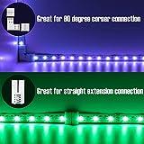 L Shape 4-Pin LED Connectors 10-Pack JACKYLED 10mm