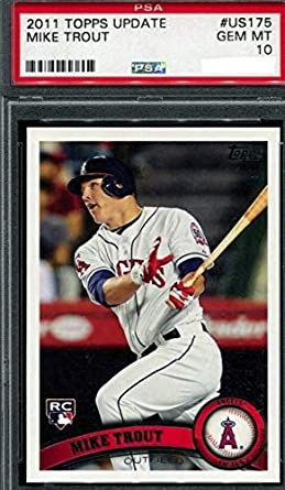 Amazoncom 2011 Topps Update Series Mike Trout Los