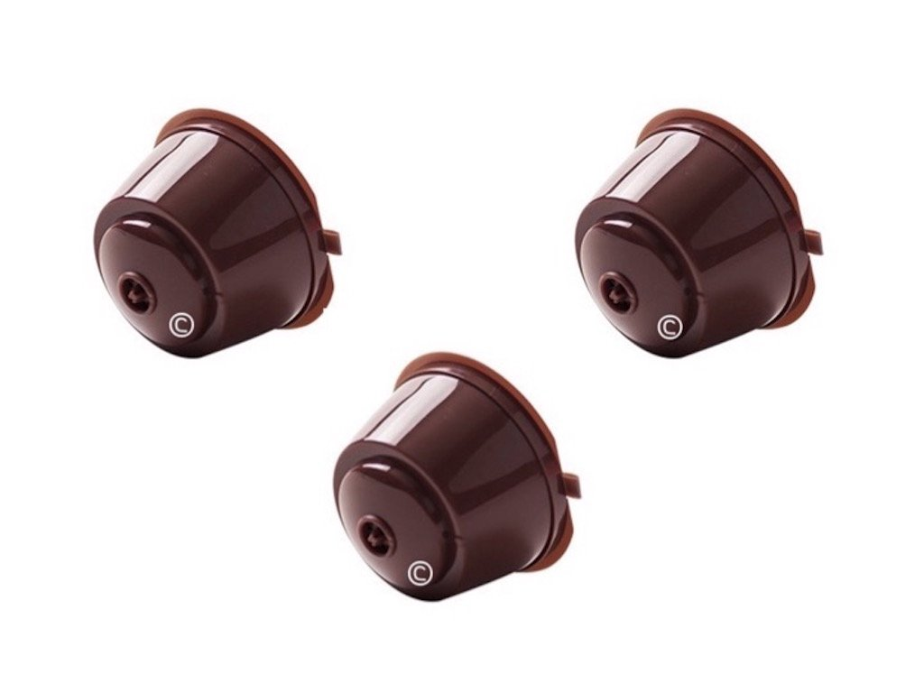 Coffee2u Refillable Reusable Coffee Capsules Pods For Dolce Gusto Coffiee Machines - 3 Coffee Pods