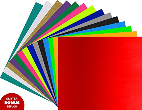 "Heat Transfer Vinyl ARTEX | 12""x10"" 15 Color Starter 