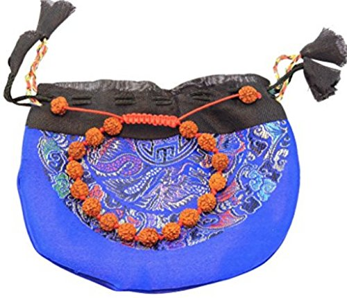 Handmade Tibetan individually knotted adjustable wrist mala yoga bracelet for meditation many choice (Rudraksha)