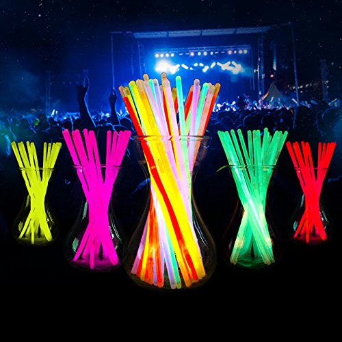"Price comparison product image Glow Sticks,THZY 100 8"" Light up Glow Sticks Bracelets Necklaces Mixed Colors Party Supplies"
