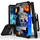LG Aristo, Phoenix 3, LG Fortune, LV3, LG K8 2017, Risio 2, Rebel 2 LTE Case, Trishield Durable Phone Cover With Lanyard Loop Holster And Built in Kickstand Card Slot - Solar Planet Galaxy