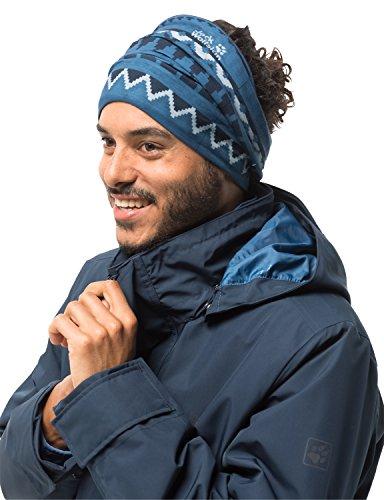 Jack Wolfskin Print Fleece Headgear Lightweight Fleece Headwear, Ocean Wave All Over, One - Gear Face North Ear