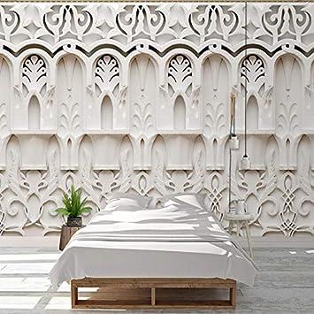 Foto Wallpaper Stile Europeo Bianco Gesso ... - Amazon.com