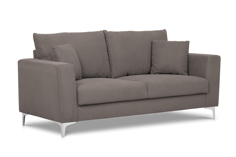 Confort24 Lisa Sofá 3 lugares elegante con patas de metal ...