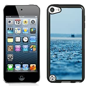 New Beautiful Custom Designed Cover Case For iPod 5 With Rain On The Ocean Phone Case