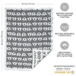Living-Textiles-Double-Layer-Cotton-Muslin-Jacquard-Baby-Blanket-Grey-Elephant-Ultra-Soft-Lightweight-and-Versatile-Swaddle-and-Receiving-Blanket-Baby-Gift-Ideas-40×30