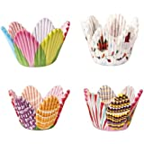 Ecloud Shop 75 Petal Muffin Cupcake Paper Cases Liners Cups Party