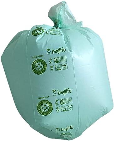 Baglife, Bolsa para basura Compostable mini 17x18 pulgadas 100 pzs: Amazon.com.mx: Salud y Cuidado Personal