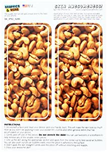 Graphics and More Cashews Nuts Protective Skin Sticker Case for Apple iPhone 5C - Set of 2 - Non-Retail Packaging - Opaque
