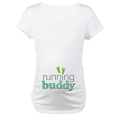 3495cc6c3604 Amazon.com  CafePress Running Buddy Green Maternity Maternity Tee ...