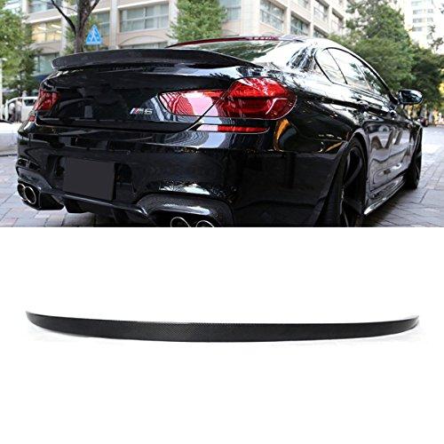 Fandixin F06 Spoiler, Carbon Fiber M6 Style Rear Trunk Deck Lip Boot Spoiler Wing for BMW 6 Series F06 640i 650i 640d